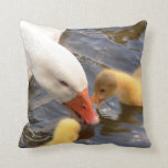 Goose and Goslings Throw Pillow