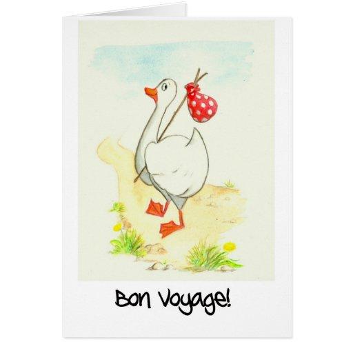 Goose 'Bon Voyage' Greeting Card