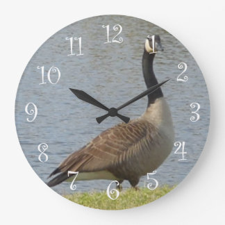 Goose By Pond Wall Clock