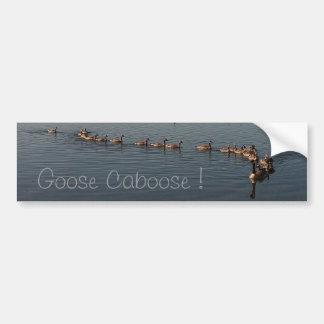 GOOSE CABOOSE by SHARON SHARPE Bumper Sticker
