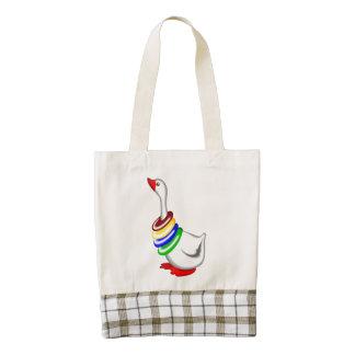 Goose cartoon zazzle HEART tote bag
