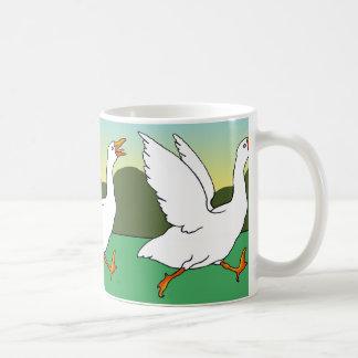 Goose Chase Classic White Coffee Mug