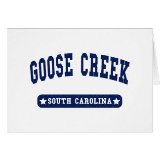 Goose Creek South Carolina College Style tee shirt Card