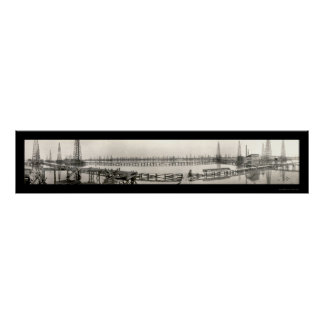Goose Creek TX Oil Photo 1919 Poster