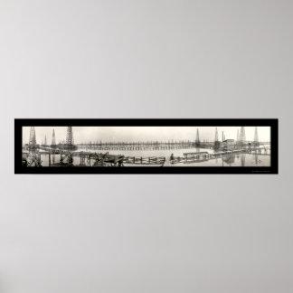Goose Creek TX Oil Photo 1919 Print