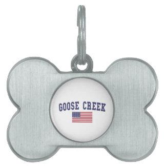 Goose Creek US Flag Pet Tag