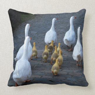 Goose cushion throw pillow