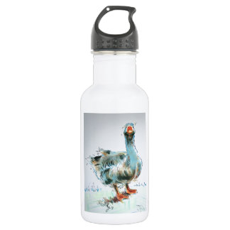 Goose Drawing Stainless Steel Water Bottle