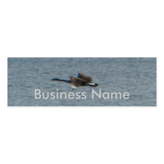 Goose Flying Over Water Business Cards
