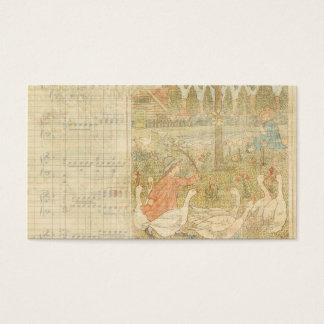 Goose Gander Vintage Background Business Card