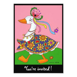 Goose Goes Out Ukrainian Folk Art 5x7 Paper Invitation Card