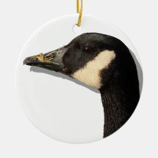 Goose Head Ceramic Ornament