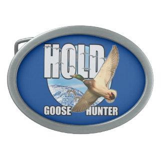 Goose hunter oval belt buckle