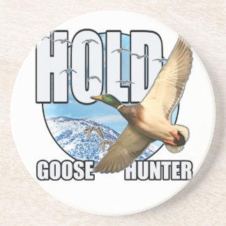 Goose hunter sandstone coaster