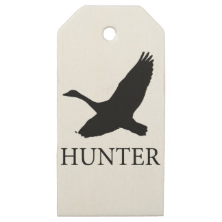 Goose Hunter Wooden Gift Tags