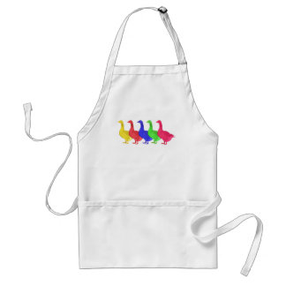 Goose in Five Colors Adult Apron