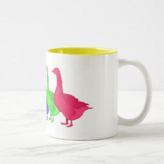 Goose in Five Colors Coffee Mug