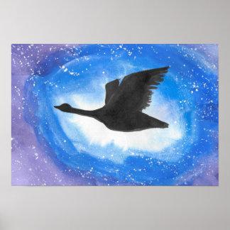 Goose In Flight Poster