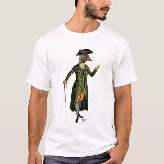 Goose in Green Regency Coat 2 T-Shirt