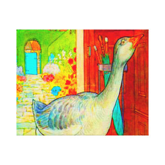 GOOSE IN THE HOUSE CANVAS PRINT