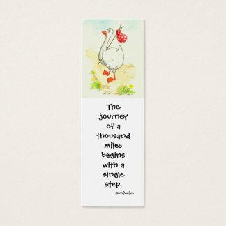 'Goose' Inspirational Bookmark Mini Business Card