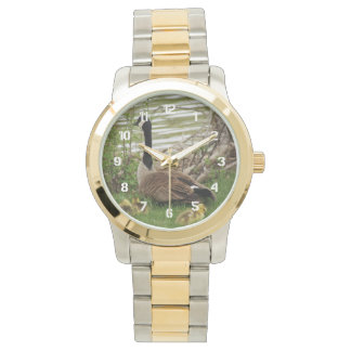 Goose Mom and Babies Wrist Watch