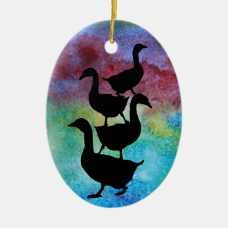 Goose Pile Ornaments