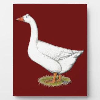 Goose Roman Tufted Plaque