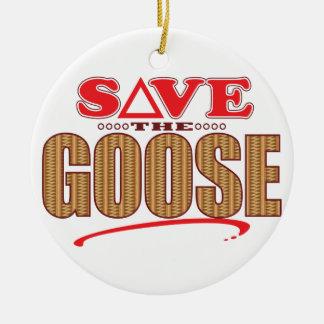 Goose Save Ceramic Ornament