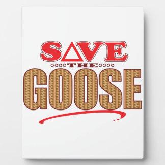 Goose Save Plaque