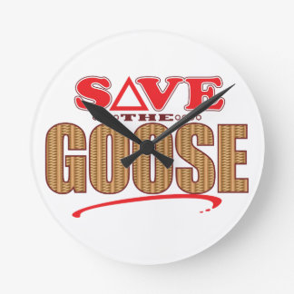 Goose Save Round Clock