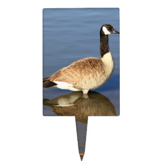 Goose standing in water cake toppers