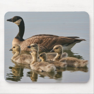 Goose with Chicks Mousepad