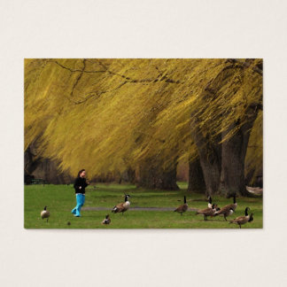 Goose Woman with Willows ATC Business Card