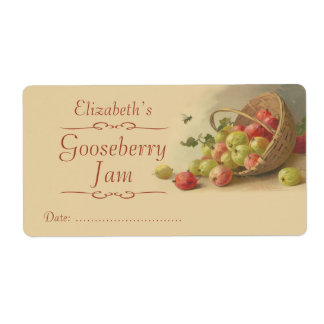 Gooseberry Canning label