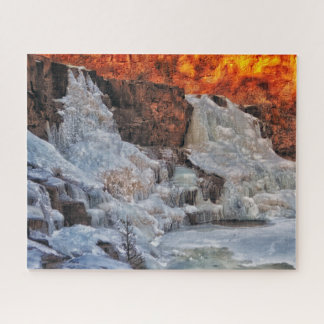 Gooseberry Falls Minnesota, Winter Jigsaw Puzzle