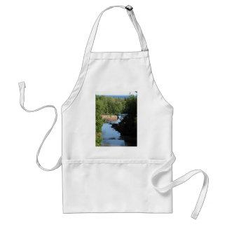 Gooseberry Falls - Stream running between trees Adult Apron