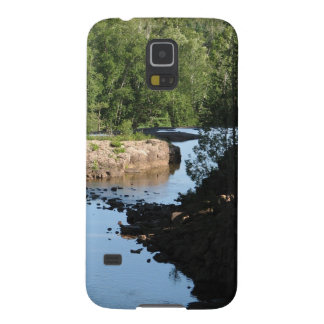 Gooseberry Falls - Stream running between trees Galaxy S5 Cover