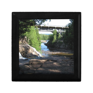 Gooseberry Falls - Stream running between trees Gift Box