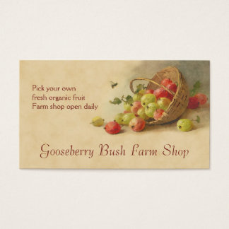 Gooseberry fruit sales business card