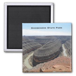 Gooseneck State Park 2 Inch Square Magnet