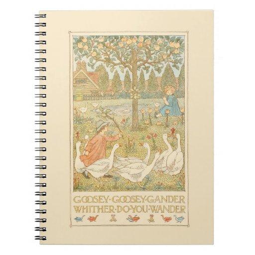 Goosey Gander Nursery Rhyme Notebooks
