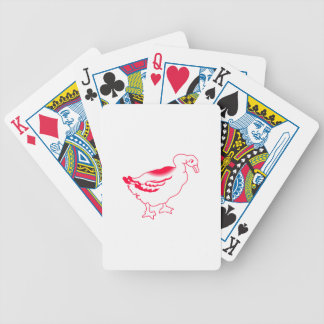 Goosey Gander Redwork Bicycle Playing Cards