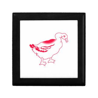 Goosey Gander Redwork Jewelry Box