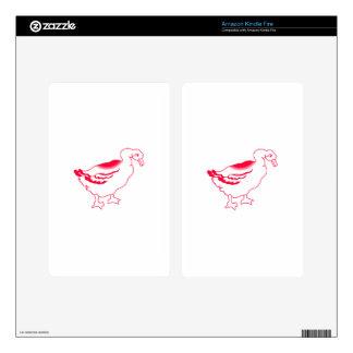 Goosey Gander Redwork Skins For Kindle Fire