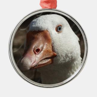 Goosey goosey gander metal ornament