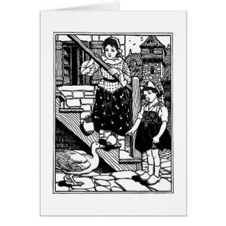 Goosey, Goosey, Gander Nursery Rhyme Card
