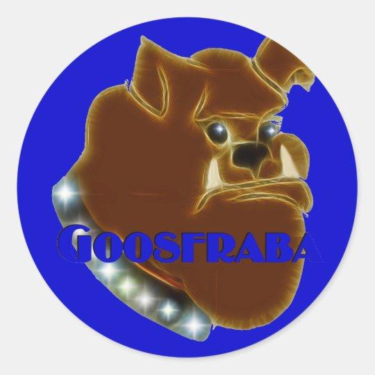 Goosfraba Bulldog Classic Round Sticker
