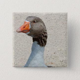 Goosy Goose Button Badge