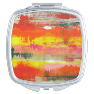 Goovy Red Orange Yellow Abstract No. 155 Mirror For Makeup